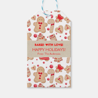 Gingerbread Man Baked Cookies Rustic Whimsical Gift Tags