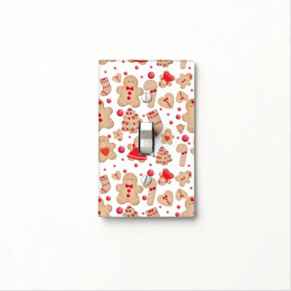 Gingerbread Man Baked Cookies Rustic Whimsical Light Switch Cover