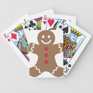 Gingerbread Man Bicycle Playing Cards