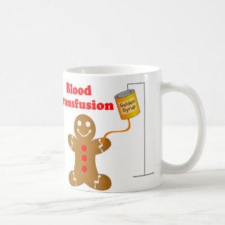 Gingerbread Man Blood Bank and Blood Transfusion Coffee Mug