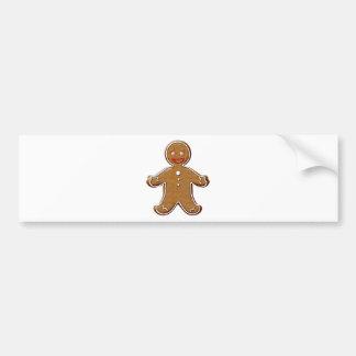 Gingerbread man bumper sticker