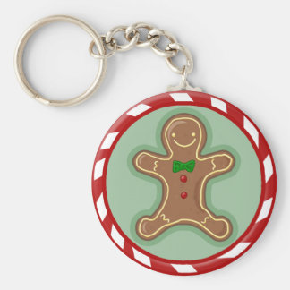 Gingerbread Man Candy Keychain