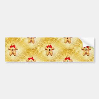 Gingerbread Man Celebration Bumper Stickers