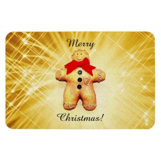 Gingerbread Man Celebration Vinyl Magnet