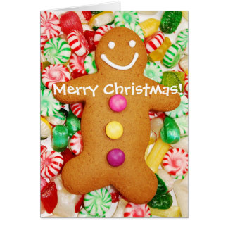Gingerbread man Christmas Card