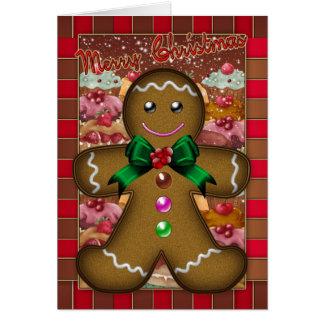 Gingerbread Man Christmas Card - Merry Christmas
