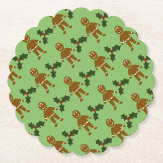 Gingerbread Man Christmas Coasters