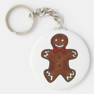 Gingerbread Man Christmas Cookie Holiday Baking Keychain