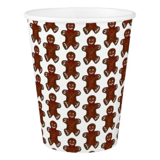 Gingerbread Man Christmas Cookie Holiday Baking Paper Cup