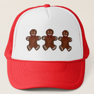 Gingerbread Man Christmas Cookie Holiday Baking Trucker Hat