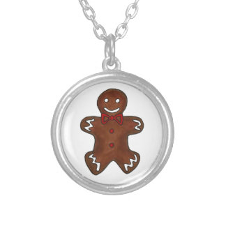 Gingerbread Man Christmas Cookie Holiday Necklace