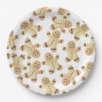 Gingerbread Man Christmas Dinner Paper Plates
