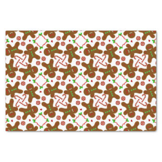 Gingerbread man Christmas personalizable Tissue Paper