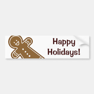 Gingerbread Man cookie Bumper Sticker