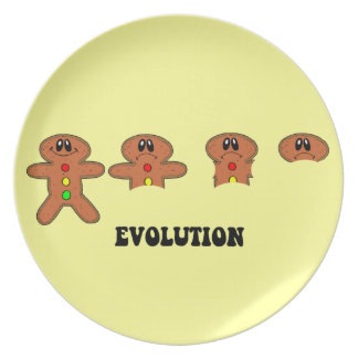 gingerbread man cookie evolution party plate