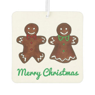 Gingerbread Man Cookie Merry Christmas Holiday Air Freshener