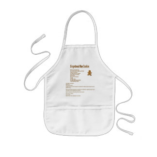 Gingerbread Man Cookie Recipe Kid Apron