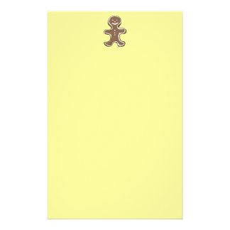 Gingerbread man cookie stationery
