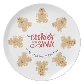 Gingerbread Man Cookies for Santa Plate