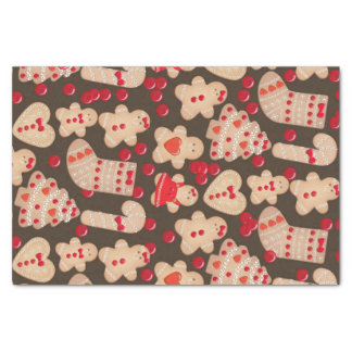 Gingerbread Man Cookies Holiday Cookies Fun Party Tissue Paper
