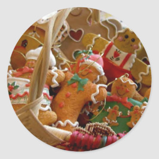 gingerbread man cookies sticker