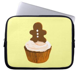 Gingerbread man cupcake laptop sleeve