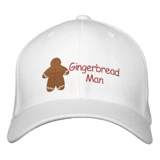 Gingerbread Man Custom Embroidery Pattern Embroidered Baseball Caps