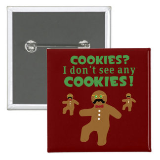 Gingerbread Man Disguise 2 Inch Square Button
