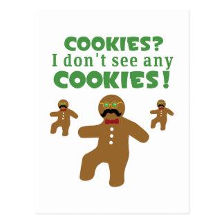 Gingerbread Man Disguise Postcard