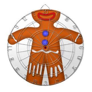 Gingerbread Man Drawing Dartboard