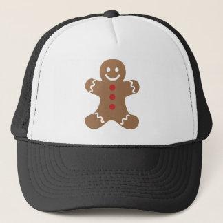 Gingerbread Man Drawing Trucker Hat