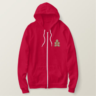 Gingerbread Man Embroidered Hoodie
