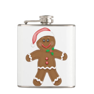 Gingerbread Man Flasks