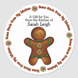 Gingerbread Man Food Gift Sticker
