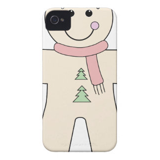 Gingerbread man for Christmas iPhone 4 Cover