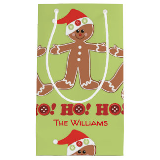 Gingerbread Man Ho Ho Ho Small Gift Bag