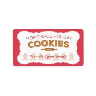 Gingerbread Man Holiday Cookies Label