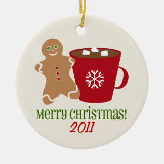 Gingerbread Man & Hot Chocolate Christmas Ornament