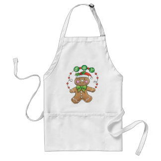"Gingerbread Man ""Joy"" for Christmas Apron"