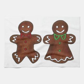 Gingerbread Man Lady Christmas Cookies Towel