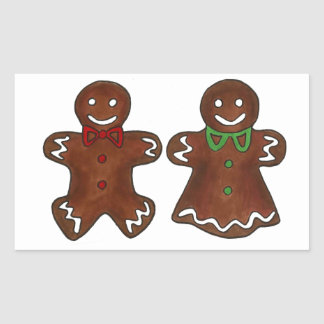 Gingerbread Man Lady Woman Christmas Xmas Cookie Sticker