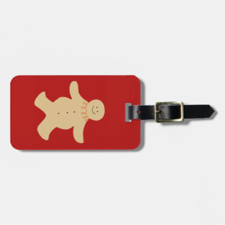 Gingerbread Man Luggage Tag in Red