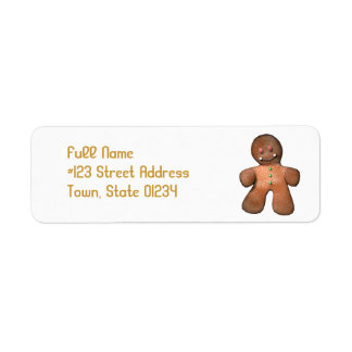 Gingerbread Man Mailing Labels