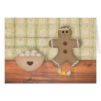"Gingerbread Man ""Oops"" Note Card"