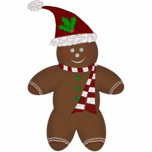 Gingerbread Man Ornament Photo Cut Out   Zazzle