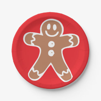 Gingerbread Man Paper Plate
