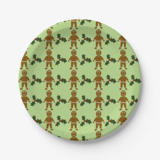 Gingerbread Man Paper Plates
