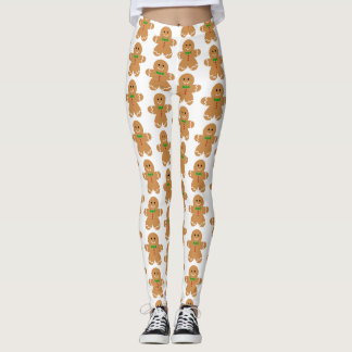 Gingerbread Man Pattern Leggings