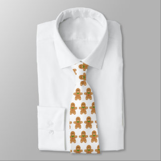 Gingerbread Man Pattern Tie