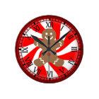Gingerbread Man Peppermint Candy Christmas Clock